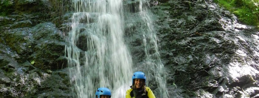 Canyoning group in Asturias with K2 team