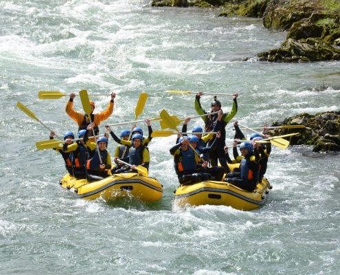 Rafting en el Sella